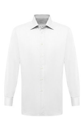 Мужская хлопковая сорочка BRIONI белого цвета, арт. RCA10L/PZ034 | Фото 1