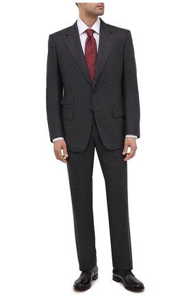 Мужской кожаные дерби SILVANO SASSETTI темно-серого цвета, арт. S151125507XBUTTGRIG | Фото 2
