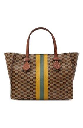 Мужская кожаная сумка-шопер MOREAU коричневого цвета, арт. SBREMZIIVBBF3BC | Фото 1