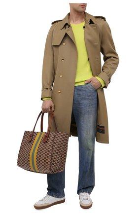 Мужская кожаная сумка-шопер MOREAU коричневого цвета, арт. SBREMZIIVBBF3BC | Фото 2