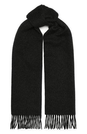 Мужской кашемировый шарф LANVIN черного цвета, арт. 5300/SCARF | Фото 1