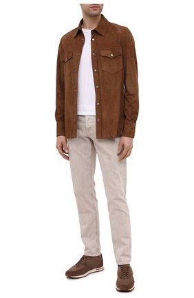 Мужские замшевые кроссовки LORO PIANA коричневого цвета, арт. FAL5055 | Фото 2
