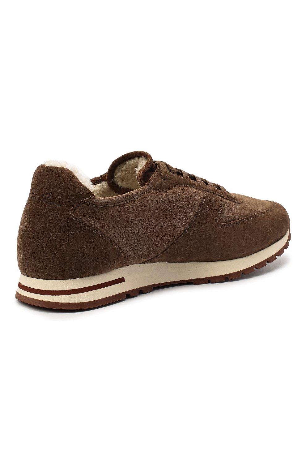 Мужские замшевые кроссовки LORO PIANA коричневого цвета, арт. FAL5055 | Фото 4