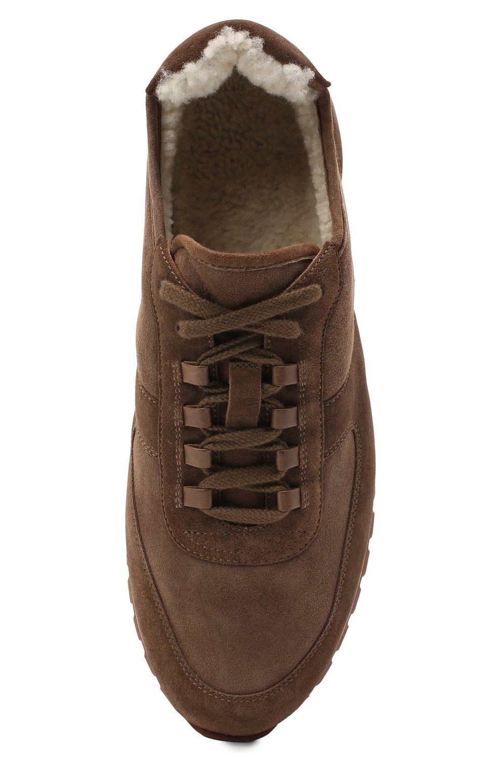 Мужские замшевые кроссовки LORO PIANA коричневого цвета, арт. FAL5055 | Фото 5