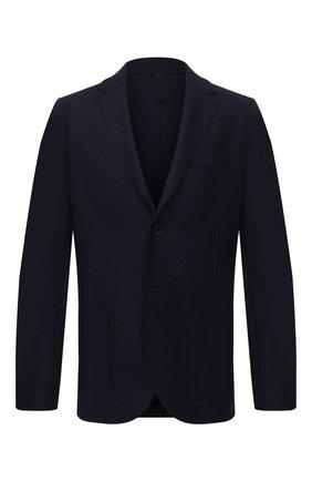 Мужской шерстяной пиджак HARRIS WHARF LONDON темно-синего цвета, арт. C8B22MLX | Фото 1