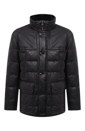 Мужская кожаная куртка WINDSOR черного цвета, арт. BRETAN0-L 1300130 | Фото 1