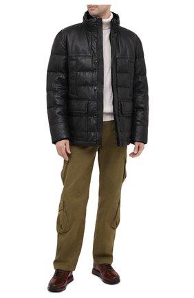 Мужская кожаная куртка WINDSOR черного цвета, арт. BRETAN0-L 1300130 | Фото 2