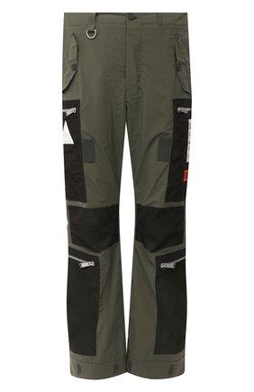 Мужские брюки-карго HERON PRESTON хаки цвета, арт. HMCF009F20FAB0025500 | Фото 1