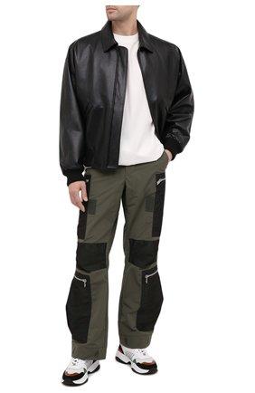 Мужские брюки-карго HERON PRESTON хаки цвета, арт. HMCF009F20FAB0025500 | Фото 2