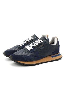 Мужские кожаные кроссовки MOMA синего цвета, арт. 4AW199-CR/LEATHER | Фото 1