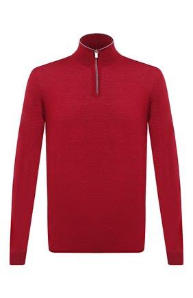 Мужской шерстяной джемпер FEDELI бордового цвета, арт. 3UI07131B | Фото 1