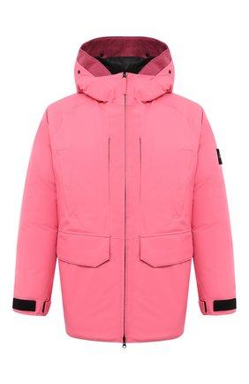 Мужская пуховик STONE ISLAND розового цвета, арт. 731540230   Фото 1