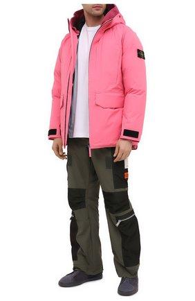 Мужская пуховик STONE ISLAND розового цвета, арт. 731540230   Фото 2