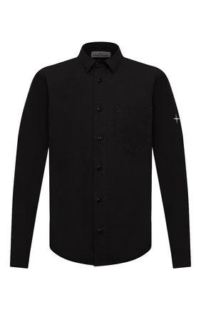 Мужская хлопковая рубашка STONE ISLAND черного цвета, арт. 731512501 | Фото 1