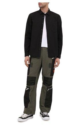 Мужская хлопковая рубашка STONE ISLAND черного цвета, арт. 731512501 | Фото 2