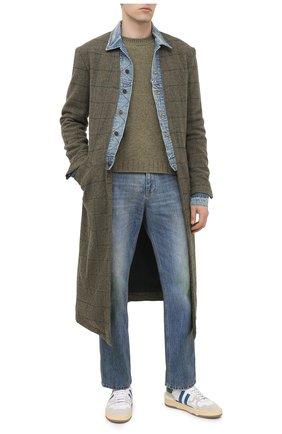 Мужской шерстяное пальто GREG LAUREN хаки цвета, арт. GLFW20-AM106 | Фото 2