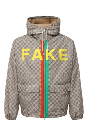 Мужская утепленная куртка GUCCI бежевого цвета, арт. 636391/ZAFKX | Фото 1