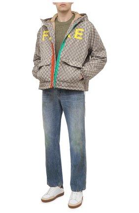 Мужская утепленная куртка GUCCI бежевого цвета, арт. 636391/ZAFKX | Фото 2