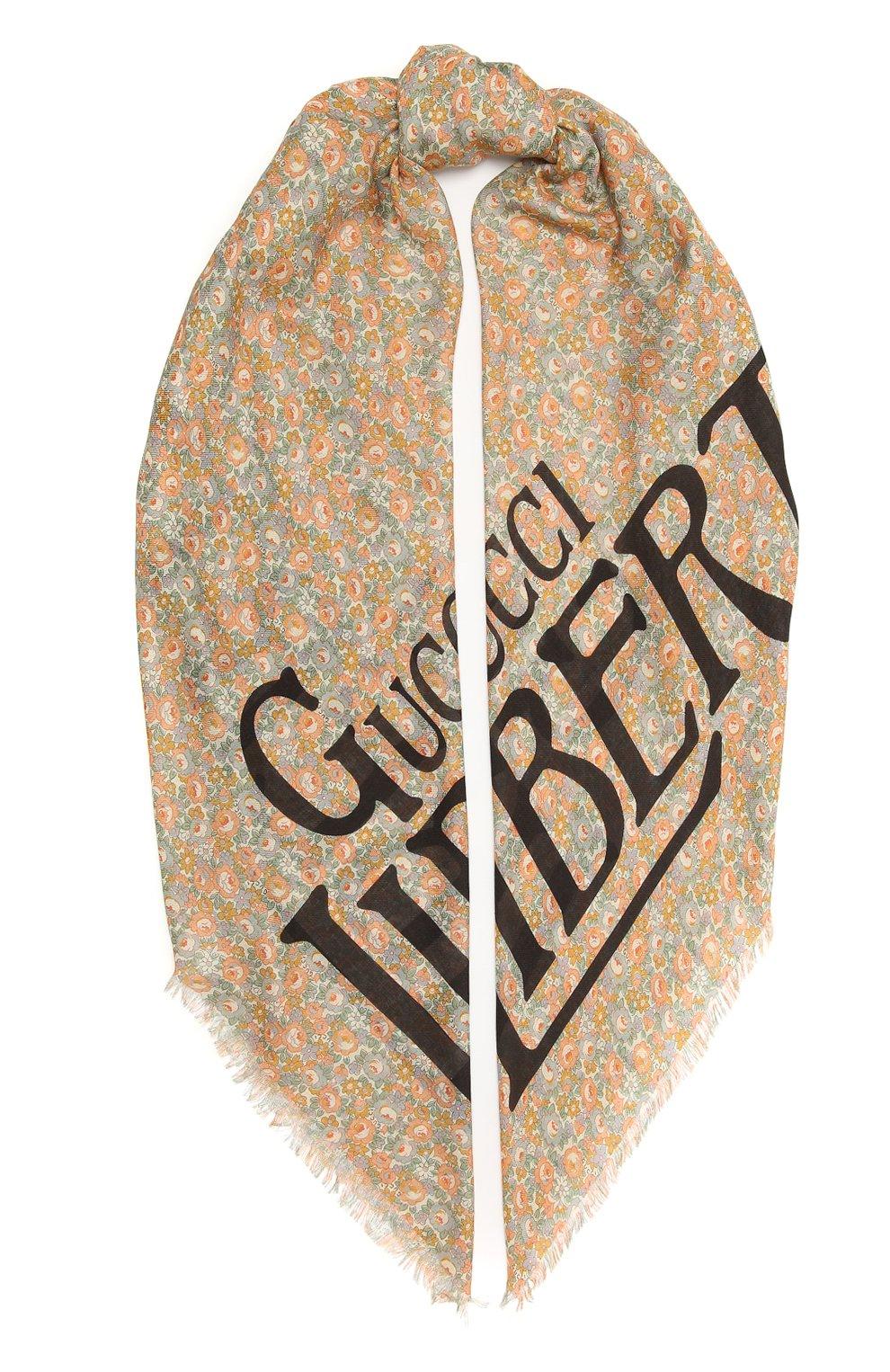 Мужской шарф liberty GUCCI разноцветного цвета, арт. 636283/4GA44 | Фото 1