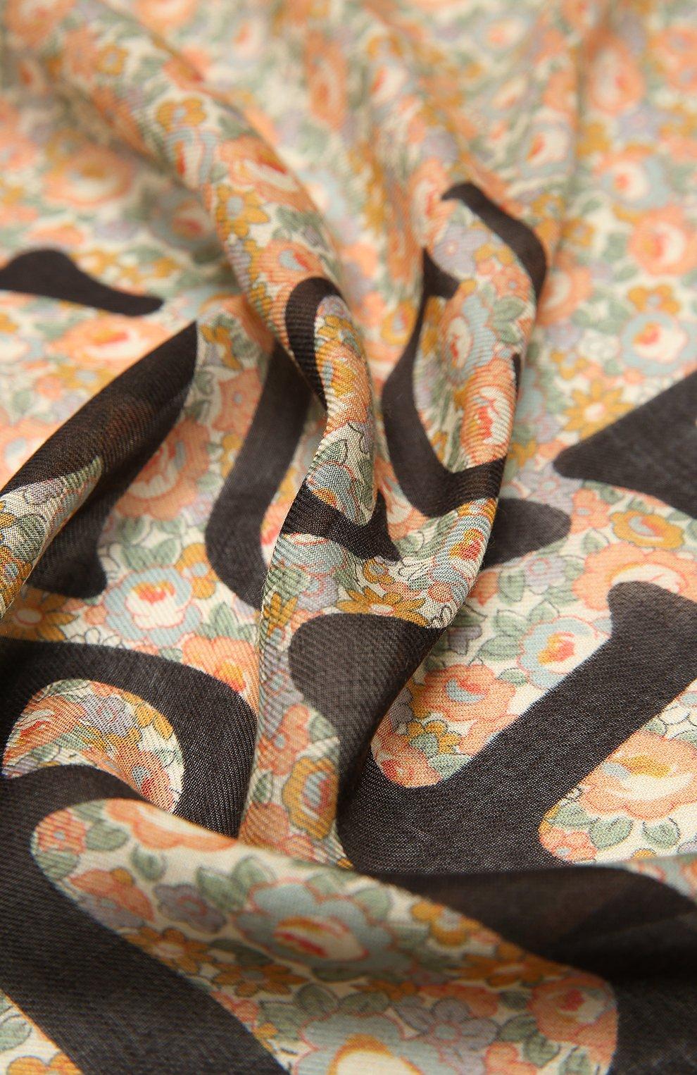 Мужской шарф liberty GUCCI разноцветного цвета, арт. 636283/4GA44 | Фото 2