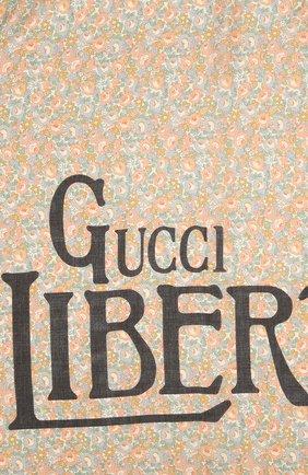 Мужской шарф liberty GUCCI разноцветного цвета, арт. 636283/4GA44 | Фото 3