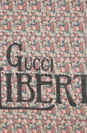 Мужской шерстяной шарф liberty GUCCI разноцветного цвета, арт. 636277/4GB44 | Фото 3