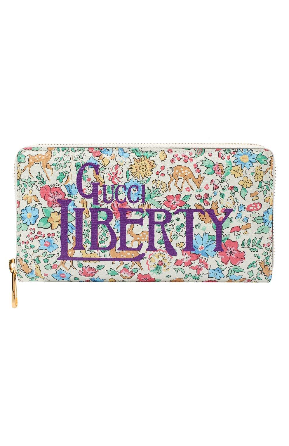Мужской кожаное портмоне liberty GUCCI разноцветного цвета, арт. 636249/13LDG | Фото 1