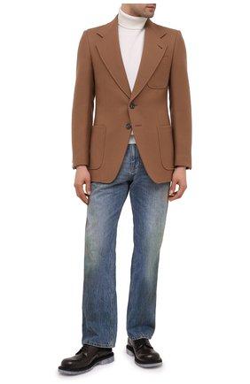Мужской шерстяной пиджак GUCCI коричневого цвета, арт. 635942/ZAA2U | Фото 2