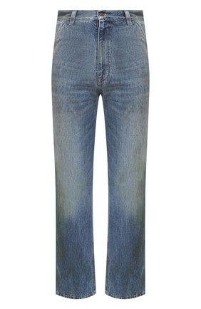 Мужские джинсы GUCCI синего цвета, арт. 631167/XDBE2 | Фото 1 (Материал внешний: Хлопок, Деним; Длина (брюки, джинсы): Стандартные; Силуэт М (брюки): Прямые)