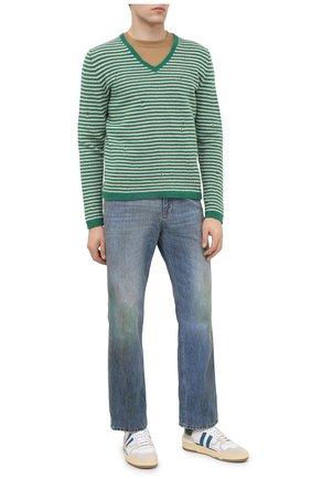 Мужские джинсы GUCCI синего цвета, арт. 631167/XDBE2 | Фото 2
