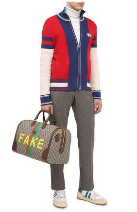 Мужская дорожная сумка «fake/not» GUCCI коричневого цвета, арт. 547953/2GCBG   Фото 2