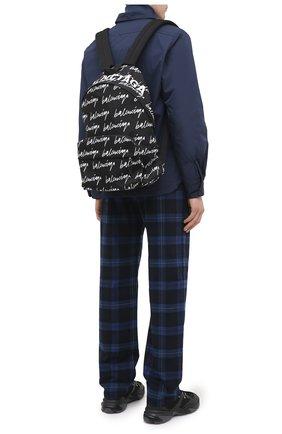 Мужской текстильный рюкзак BALENCIAGA черно-белого цвета, арт. 507460/9MIPN | Фото 2