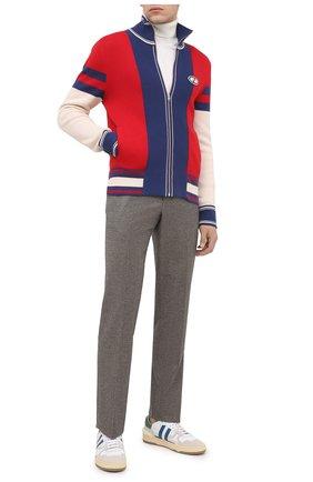 Мужская хлопковый кардиган GUCCI разноцветного цвета, арт. 626285/XKBFR | Фото 2