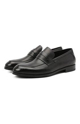 Мужские кожаные пенни-лоферы ERMENEGILDO ZEGNA черного цвета, арт. A4279X-LHNAX | Фото 1