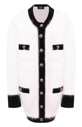 Женский кардиган из шерсти и вискозы BALMAIN белого цвета, арт. UF13493/K141 | Фото 1