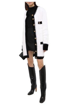 Женский кардиган из шерсти и вискозы BALMAIN белого цвета, арт. UF13493/K141 | Фото 2