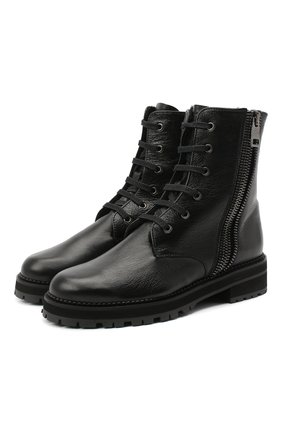Женские кожаные ботинки PERTINI черного цвета, арт. 202W30356C2 | Фото 1