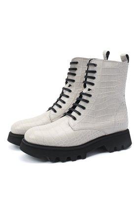 Женские кожаные ботинки PERTINI белого цвета, арт. 202W30461C7 | Фото 1