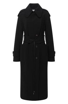 Женское пальто с поясом VICTORIA BECKHAM черного цвета, арт. 1320WCT001676C | Фото 1