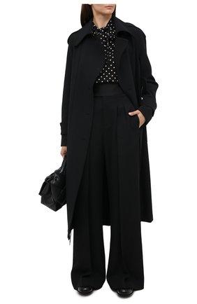 Женское пальто с поясом VICTORIA BECKHAM черного цвета, арт. 1320WCT001676C | Фото 2
