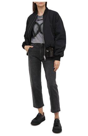 Женская хлопковая футболка DOLCE & GABBANA серого цвета, арт. F8M31Z/G7XEL | Фото 2