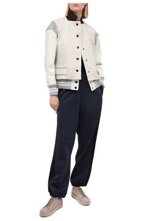 Женские кожаные кеды SANTONI бежевого цвета, арт. WBCL60688MIAGBVEE55 | Фото 2