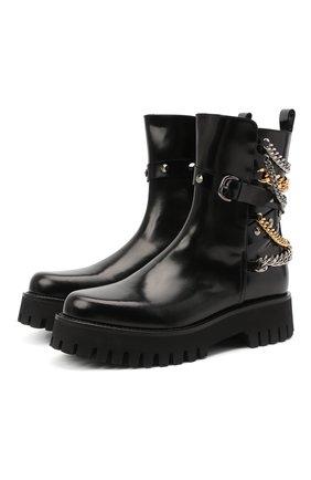 Женские кожаные ботинки CASADEI черного цвета, арт. 1R203R0401C10289000 | Фото 1