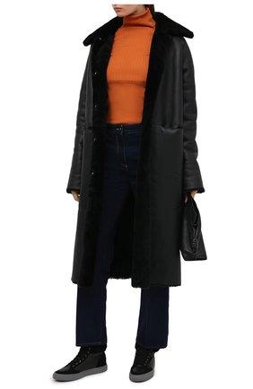 Женские кожаные кеды LORENA ANTONIAZZI черного цвета, арт. I2082SC007/421   Фото 2