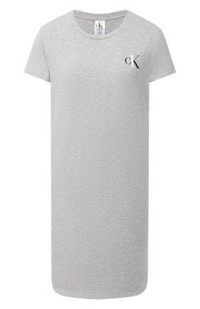 Женская хлопковая сорочка CALVIN KLEIN серого цвета, арт. QS6358E   Фото 1