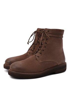Женские кожаные ботинки MARSELL коричневого цвета, арт. MW3961/PELLE R0VESCI0 | Фото 1