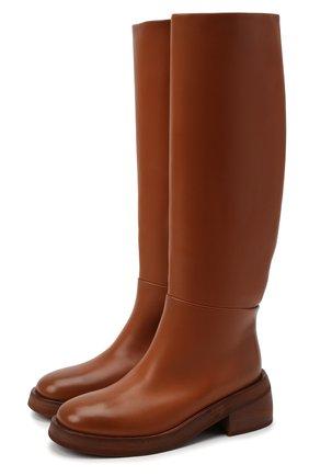 Женские кожаные сапоги MARSELL коричневого цвета, арт. MW6058/PELLE VITELL0 | Фото 1