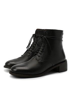 Женские кожаные ботинки MARSELL черного цвета, арт. MW6147/PELLE VITELL0 | Фото 1