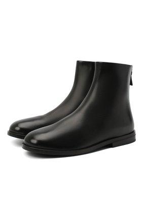 Женские кожаные ботинки MARSELL черного цвета, арт. MW6160/PELLE VITELL0 | Фото 1