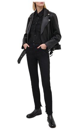 Женские кожаные ботинки MARSELL черного цвета, арт. MW6160/PELLE VITELL0 | Фото 2